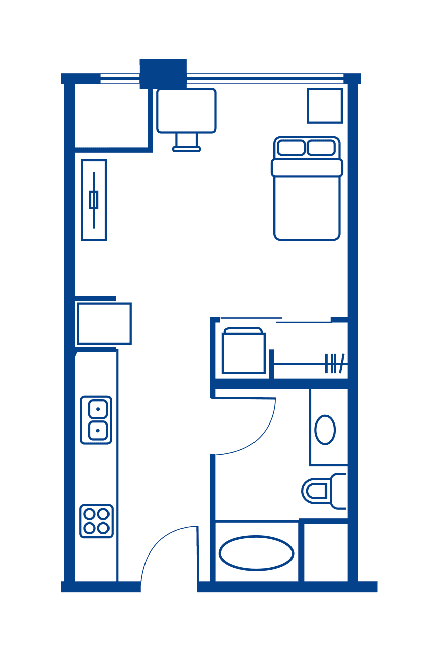 Studio Floorplan 1