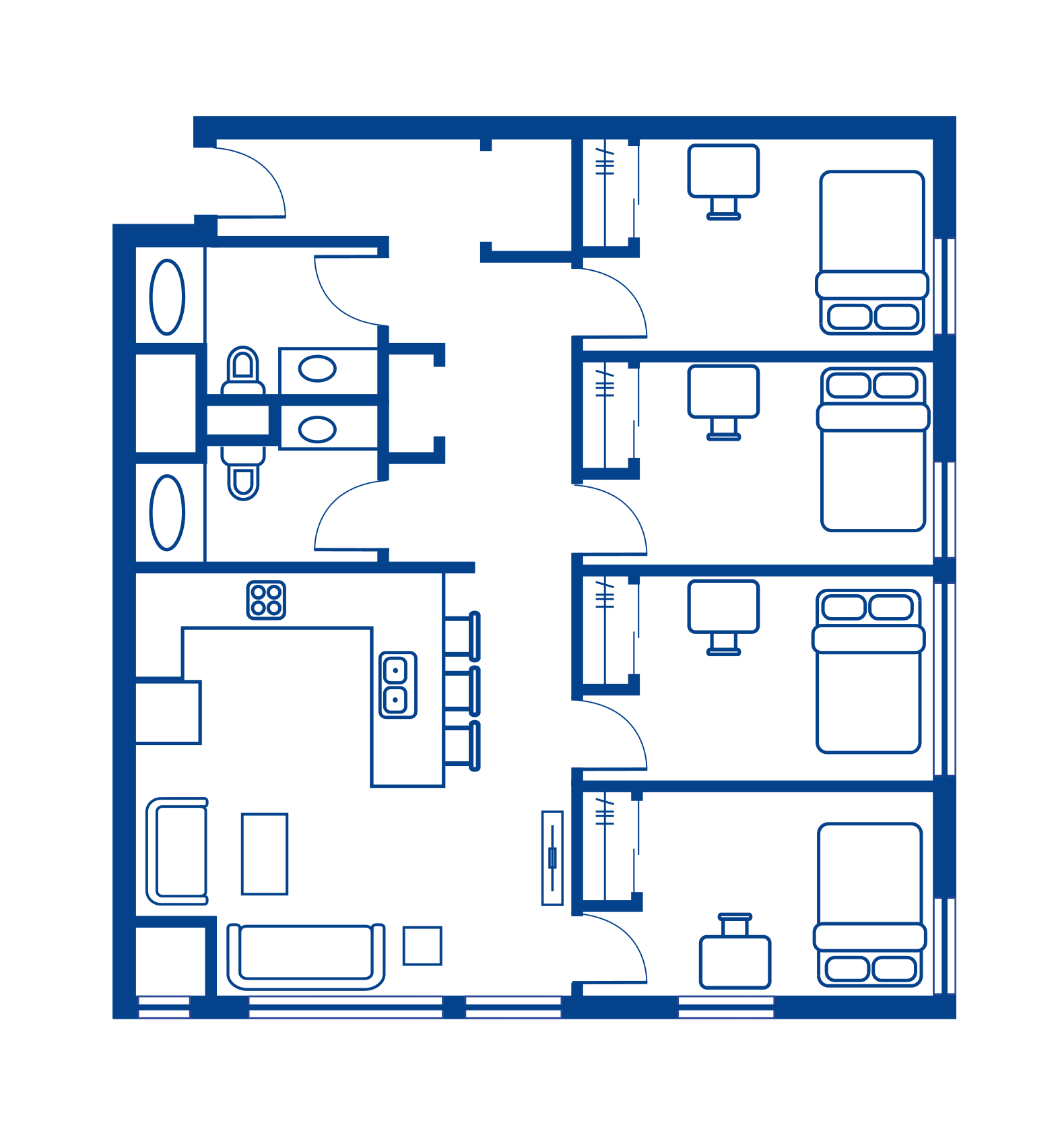 4 Bedroom Floorplan 1