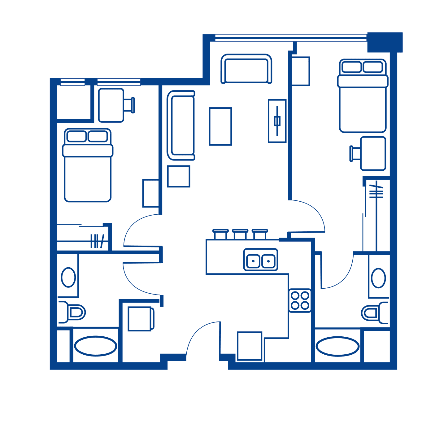 2 Bedroom Floorplan 8