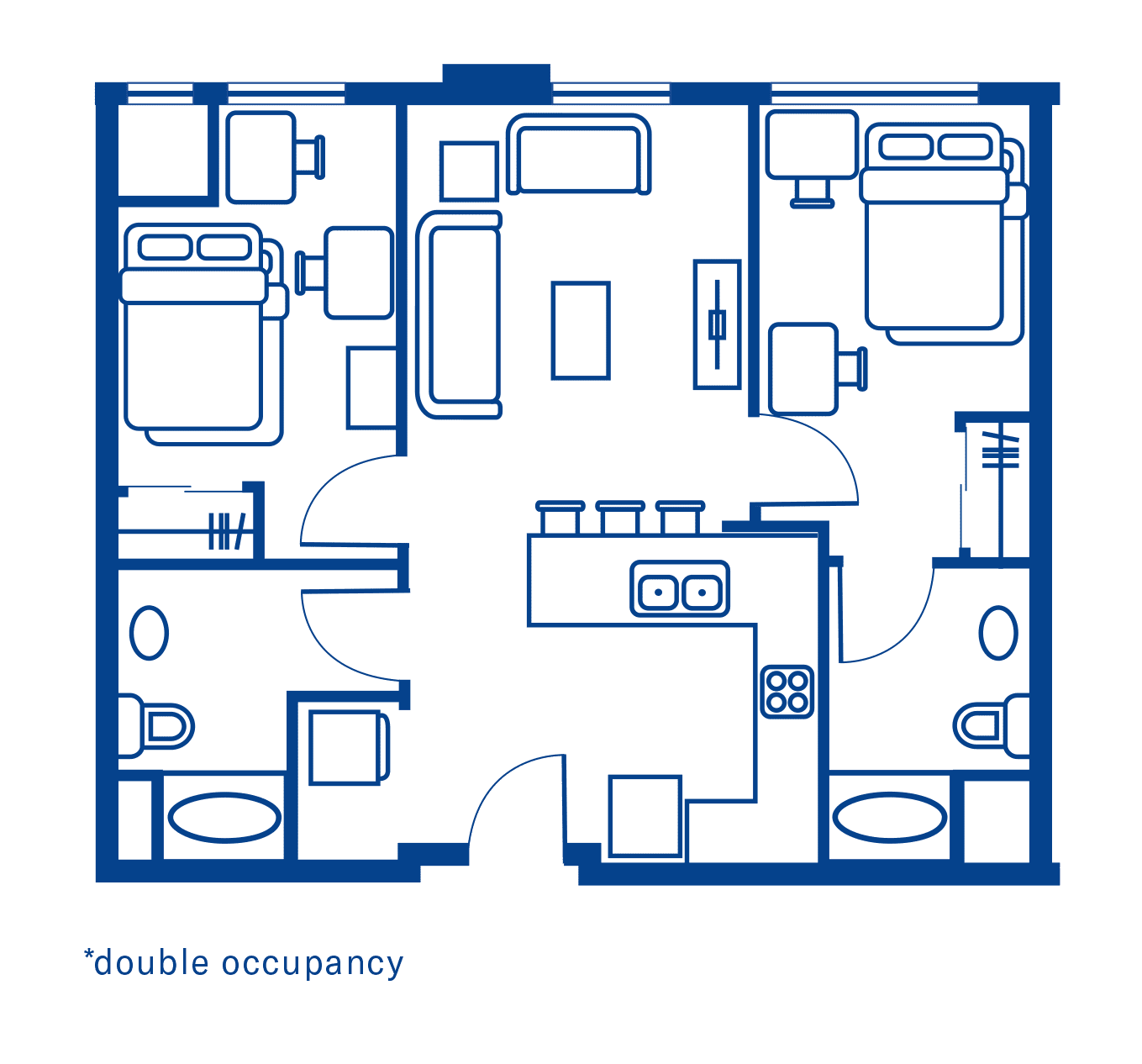 2 Bedroom Floorplan 4