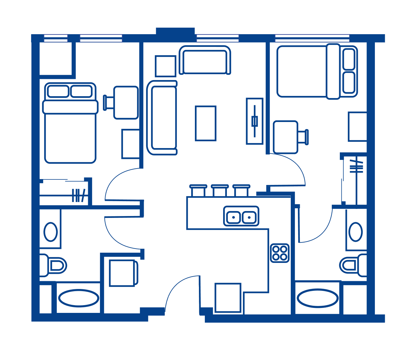2 Bedroom Floorplan 9