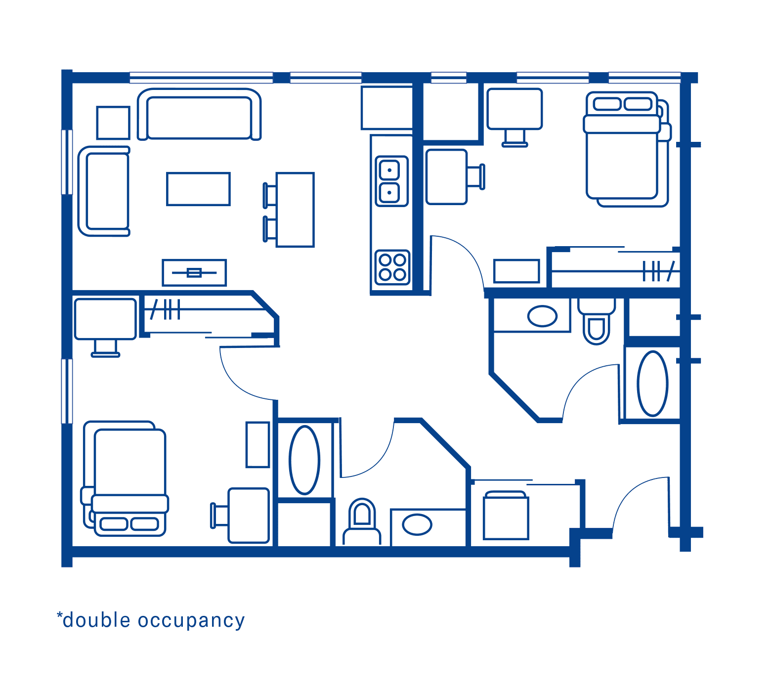 2 Bedroom Floorplan 6