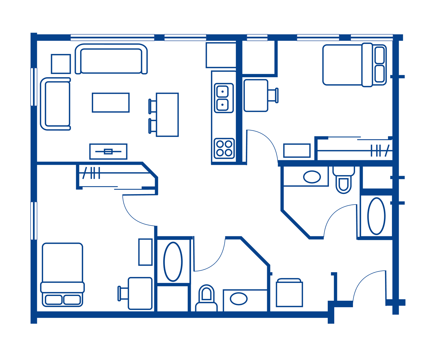 2 Bedroom Floorplan 10